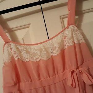 Victoria's Secret lingerie Teddy size large Peach